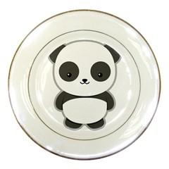 Kawaii Panda Porcelain Plates by KawaiiKawaii