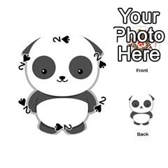 Kawaii Panda Playing Cards 54 (Round)