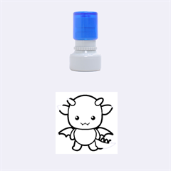 Kawaii Dragon Rubber Round Stamps (small)