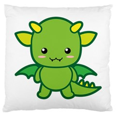 Kawaii Dragon Large Cushion Cases (two Sides)  by KawaiiKawaii