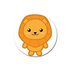 Kawaii Lion Magnet 3  (Round) by KawaiiKawaii