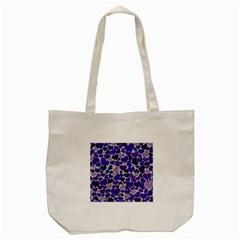 Sparkling Hearts Blue Tote Bag (cream)  by MoreColorsinLife