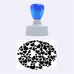 Sparkling Hearts Blue Rubber Oval Stamps