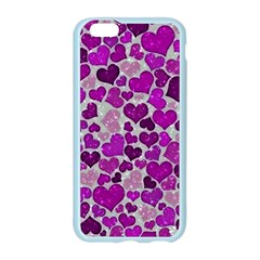 Sparkling Hearts Purple Apple Seamless iPhone 6 Case (Color)