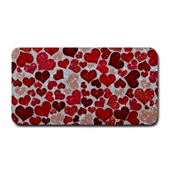 Sparkling Hearts, Red Medium Bar Mats by MoreColorsinLife