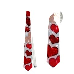Sparkling Hearts, Red Neckties (two Side)  by MoreColorsinLife