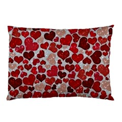 Sparkling Hearts, Red Pillow Cases