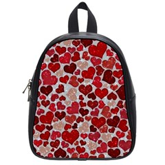 Sparkling Hearts, Red School Bags (small)  by MoreColorsinLife