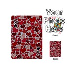 Sparkling Hearts, Red Playing Cards 54 (Mini)  Front - SpadeQ