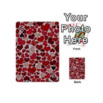 Sparkling Hearts, Red Playing Cards 54 (Mini)  Front - Spade5