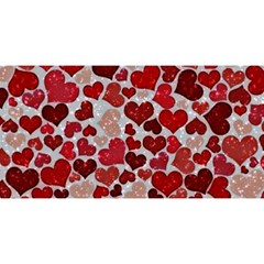 Sparkling Hearts, Red You Are Invited 3d Greeting Card (8x4)
