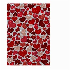 Sparkling Hearts, Red Large Garden Flag (two Sides) by MoreColorsinLife
