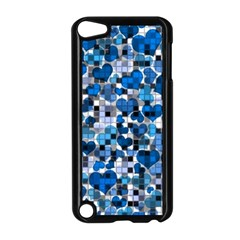 Hearts And Checks, Blue Apple iPod Touch 5 Case (Black) by MoreColorsinLife
