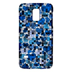 Hearts And Checks, Blue Galaxy S5 Mini by MoreColorsinLife