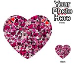 Hearts And Checks, Pink Playing Cards 54 (Heart)  Front - Heart4