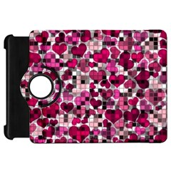 Hearts And Checks, Pink Kindle Fire Hd Flip 360 Case by MoreColorsinLife