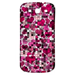 Hearts And Checks, Pink Samsung Galaxy S3 S Iii Classic Hardshell Back Case by MoreColorsinLife