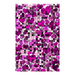 Hearts And Checks, Purple Shower Curtain 48  x 72  (Small)  by MoreColorsinLife