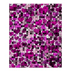 Hearts And Checks, Purple Shower Curtain 60  X 72  (medium)  by MoreColorsinLife