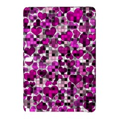 Hearts And Checks, Purple Samsung Galaxy Tab Pro 10 1 Hardshell Case by MoreColorsinLife
