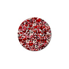 Hearts And Checks, Red Golf Ball Marker (10 Pack) by MoreColorsinLife