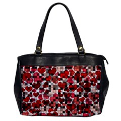 Hearts And Checks, Red Office Handbags