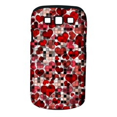 Hearts And Checks, Red Samsung Galaxy S Iii Classic Hardshell Case (pc+silicone) by MoreColorsinLife