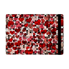 Hearts And Checks, Red Ipad Mini 2 Flip Cases by MoreColorsinLife