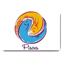 Pisces Star Sign Large Doormat  by theimagezone