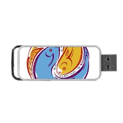 Two Fish Portable Usb Flash (two Sides) by theimagezone