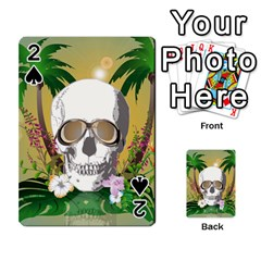 Funny Skull With Sunglasses And Palm Playing Cards 54 Designs