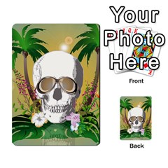 Funny Skull With Sunglasses And Palm Multi Purpose Cards (rectangle)