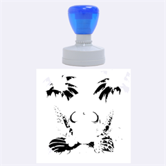 Funny Skull With Sunglasses And Palm Rubber Round Stamps (large) by FantasyWorld7