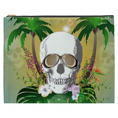 Funny Skull With Sunglasses And Palm Cosmetic Bag (xxxl)  by FantasyWorld7