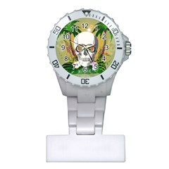Funny Skull With Sunglasses And Palm Nurses Watches by FantasyWorld7