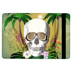 Funny Skull With Sunglasses And Palm Ipad Air Flip by FantasyWorld7