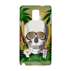 Funny Skull With Sunglasses And Palm Samsung Galaxy Note 4 Hardshell Case by FantasyWorld7