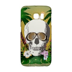 Funny Skull With Sunglasses And Palm Galaxy S6 Edge