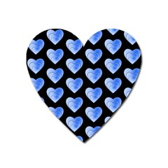 Heart Pattern Blue Heart Magnet by MoreColorsinLife