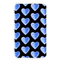 Heart Pattern Blue Memory Card Reader by MoreColorsinLife