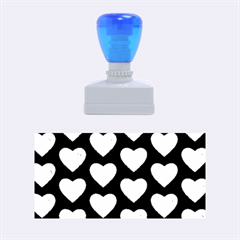 Heart Pattern Blue Rubber Stamps (medium)  by MoreColorsinLife