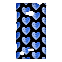 Heart Pattern Blue Nokia Lumia 720 by MoreColorsinLife