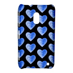 Heart Pattern Blue Nokia Lumia 620 by MoreColorsinLife
