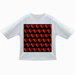 Heart Pattern Orange Infant/toddler T Shirts by MoreColorsinLife