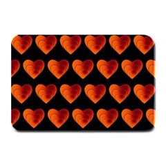 Heart Pattern Orange Plate Mats by MoreColorsinLife