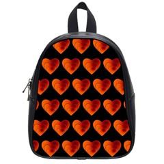 Heart Pattern Orange School Bags (small)  by MoreColorsinLife