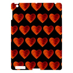 Heart Pattern Orange Apple Ipad 3/4 Hardshell Case by MoreColorsinLife