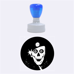 Funny, Happy Skull Rubber Round Stamps (medium) by FantasyWorld7