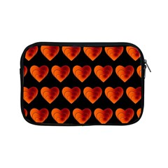 Heart Pattern Orange Apple Ipad Mini Zipper Cases by MoreColorsinLife