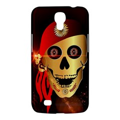 Funny, Happy Skull Samsung Galaxy Mega 6 3  I9200 Hardshell Case by FantasyWorld7